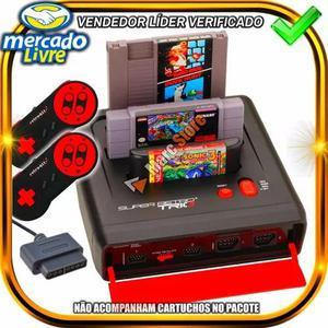 Video game super nintendo mega drive nes retro trio + 2 con.