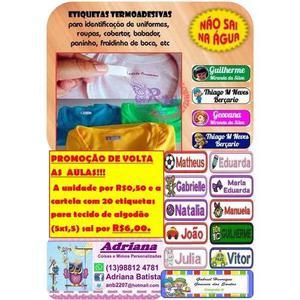 40 adesivos para roupa de algodão personalizado