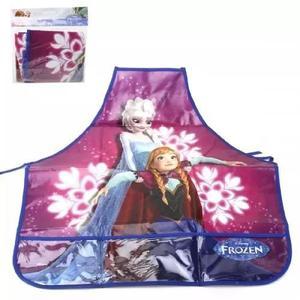 Avental escolar infantil frozen disney azul/lilas ref. y761