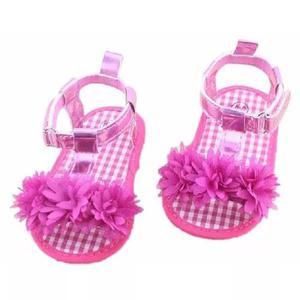 Bebê sandalia rosa criança flor sapatinho sapato sandalha