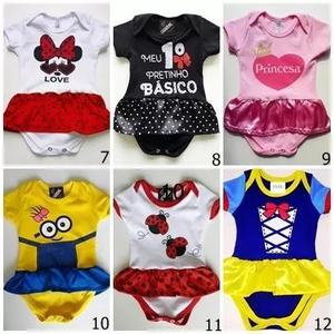 Body infantil menino e menina kit com 7 peças criança