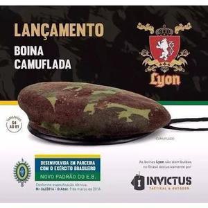 64b5b2e54ee45 Boina militar francesa lyon camuflada eb numeração 54 em Brasil ...