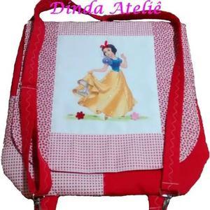 Bolsa mochila tipo envelope tecido patchwork