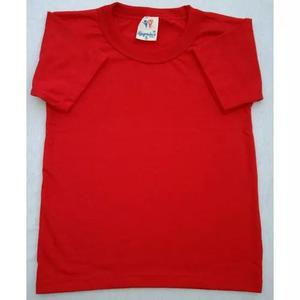 Camiseta infantil básica manga curta - p ao 10 - escolar