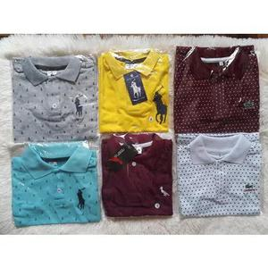 Camiseta Polo Infantil Criança Piquet Sortidas Kit 7 Peças