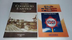 Combo livros: comércio exterior + o inglês no transporte e