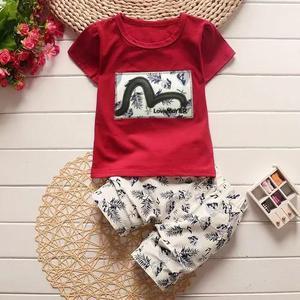 Conjunto bebê menino criança importado blusa malha