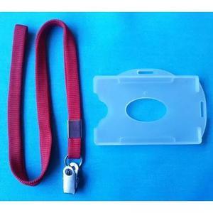 Cordao cracha clips jacare e porta cracha 10 unidades