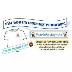 Etiquetas para uniformes escolares direto da fabrica
