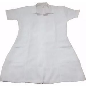 Jaleco manga curta professora enfermeira médica saúde