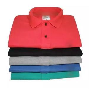 Kit 5 camisa polo infantil masculina criança menino barato