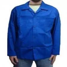Kit 6 jaleco manga longa brim 4 g 2 gg azul