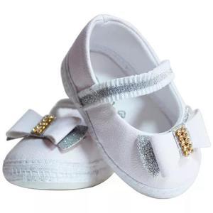 Kit 6 pares sapatinho sapatilha bebe menina batizado menino