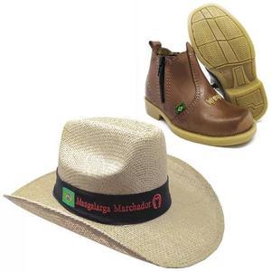Kit chapeu infantil mangalarga + bota country cowboy rodeo b2f559e1f65