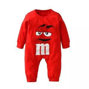 Macacão infantil roupas de criança bebê mm's manga longa
