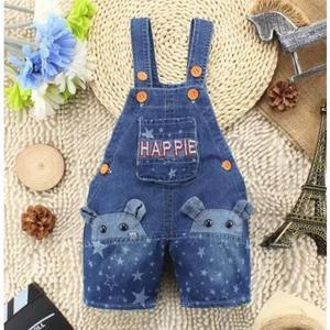 Macacão jeans jardineira jeans mikey criança menino!!