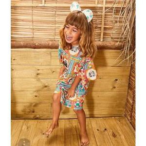 Macaquinho menina fabula original infantil macacão criança