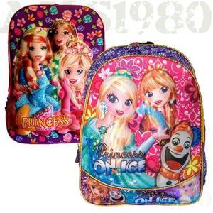 Mochila infantil personagens princesa disney escolar