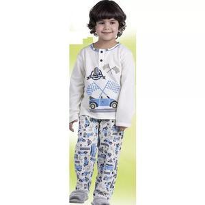 10818f10469e58 Pijama Infantil Criança Longo Menino Inverno Moletinho 1446