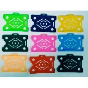 Protetor porta crachá rigido - coresdiversas - pacote c 150