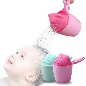 Regador banho bebe criança lavar cabeça proteção olhos