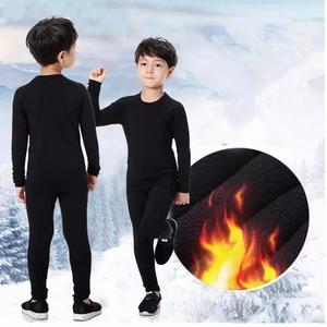 Roupa térmica conjunto peluciado infantil criança juvenil