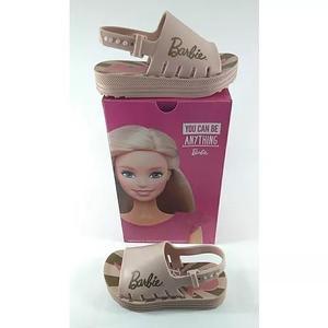 Sandália da barbie infantil de criança menina na