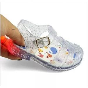 Sandália papete babuche infantil luz luzinha led criança