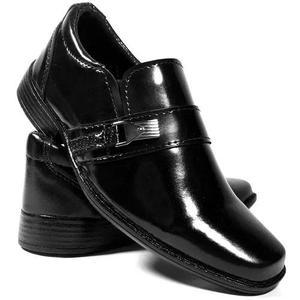 Sapato social infantil tamanho 25 a 36 masculino criança