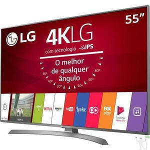 "Smart tv led 55"" lg 55uj6585 ultra hd com conversor digital"