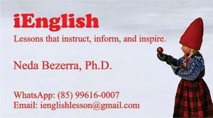 Aulas de inglês - conversação, gramática, práticas de