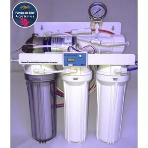 Filtro osmose reverso 100gpd tds + manômetro completo