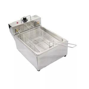 Fritadeira elétrica 1 cuba 5 lts 110v frete gratis c/ tampa