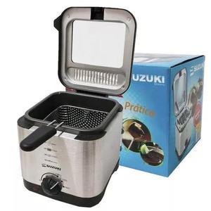 Fritadeira elétrica com fondue 1,2 l a óleo quadrada -