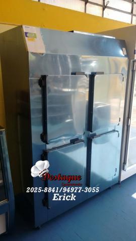 Geladeira industrial mini câmara fria aço inox 4 portas