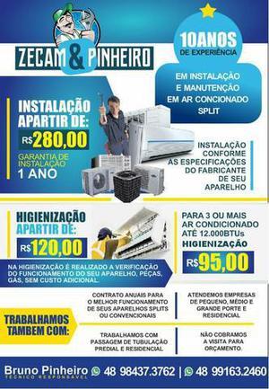 Instalação de ar condicionado, manutenção, consertos,