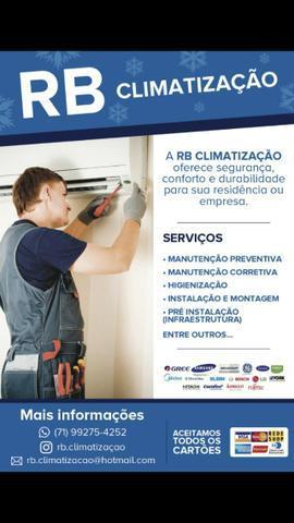 Instalação, manutenção e higienização de ar