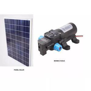 Kit Bomba Dágua 60w 12v Com Painel Placa Solar Fotovoltaico
