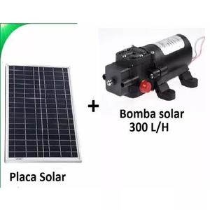 Kit bomba dágua solar com painel fotovoltaico 85w (placa)