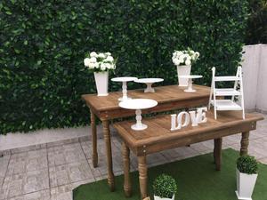 Locação kit mesa rústica + muro inglês i são paulo /sp