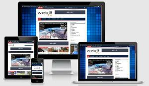 Site responsivo para tv online webtv vídeos tema web tv wp