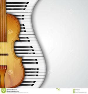 Aulas de piano, violino, canto ou inglês