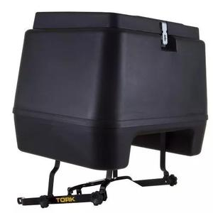 Baú moto 80 litros pro tork+ suporte baú titan/fan 125