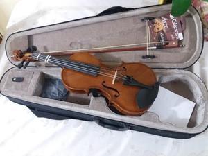 Barbada: violino 3/4 estudante completo com estojo e arco