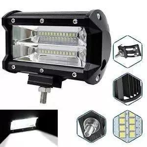 Barra led kit 02 pçs farol auxiliar milha 72w lentes 7d