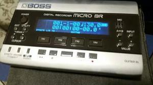 Boss microbr gravador digital multitrack estúdio