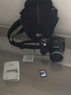 Câmera semi profissional canon sx500 is