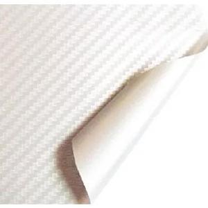 Envelopamento fibra de carbono branco 100x30cm moldavel