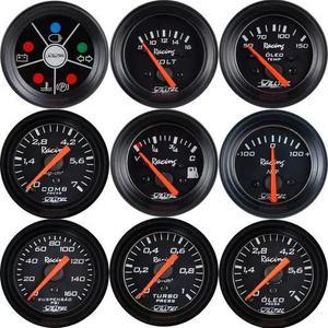 Instrumento manômetro willtec led medidor relógio
