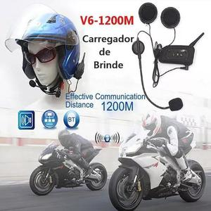Intercomunicador capacete moto v6 intercom comunicador mp3